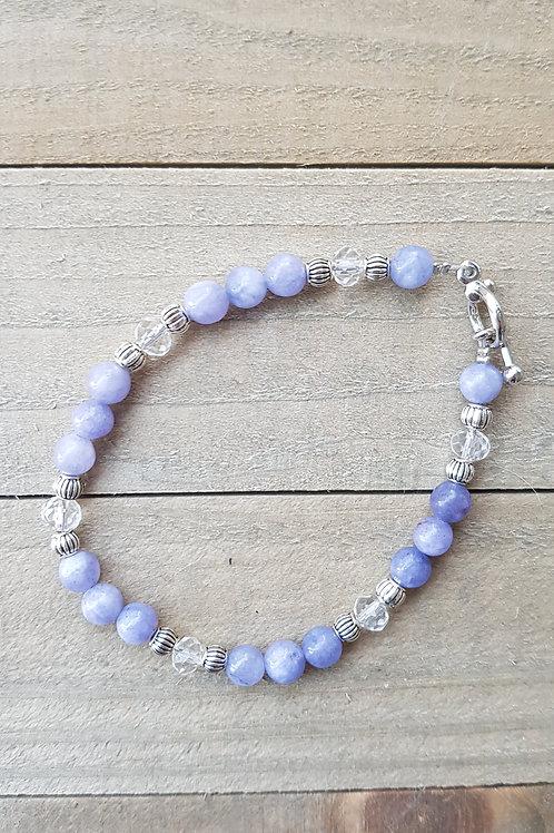 Bracelet Angélite perles rondes