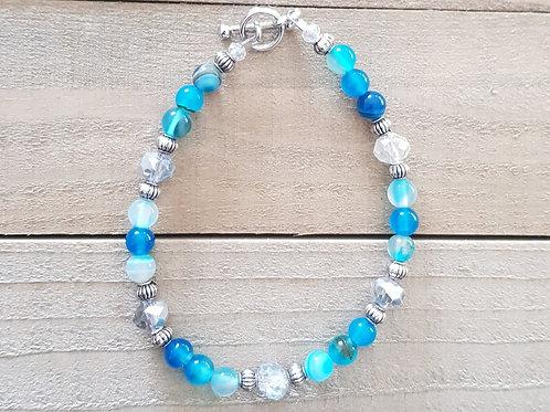Bracelet Agate bleue Modèle 1