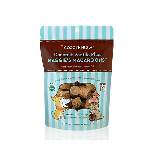 Coconut Vanilla Flax Maggie's Macaroons | CocoTherapy