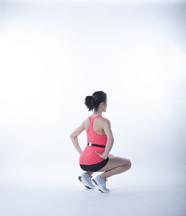 Moover range of motion sensor squat behind