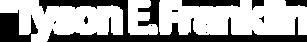 dr tyson e franklin logo white