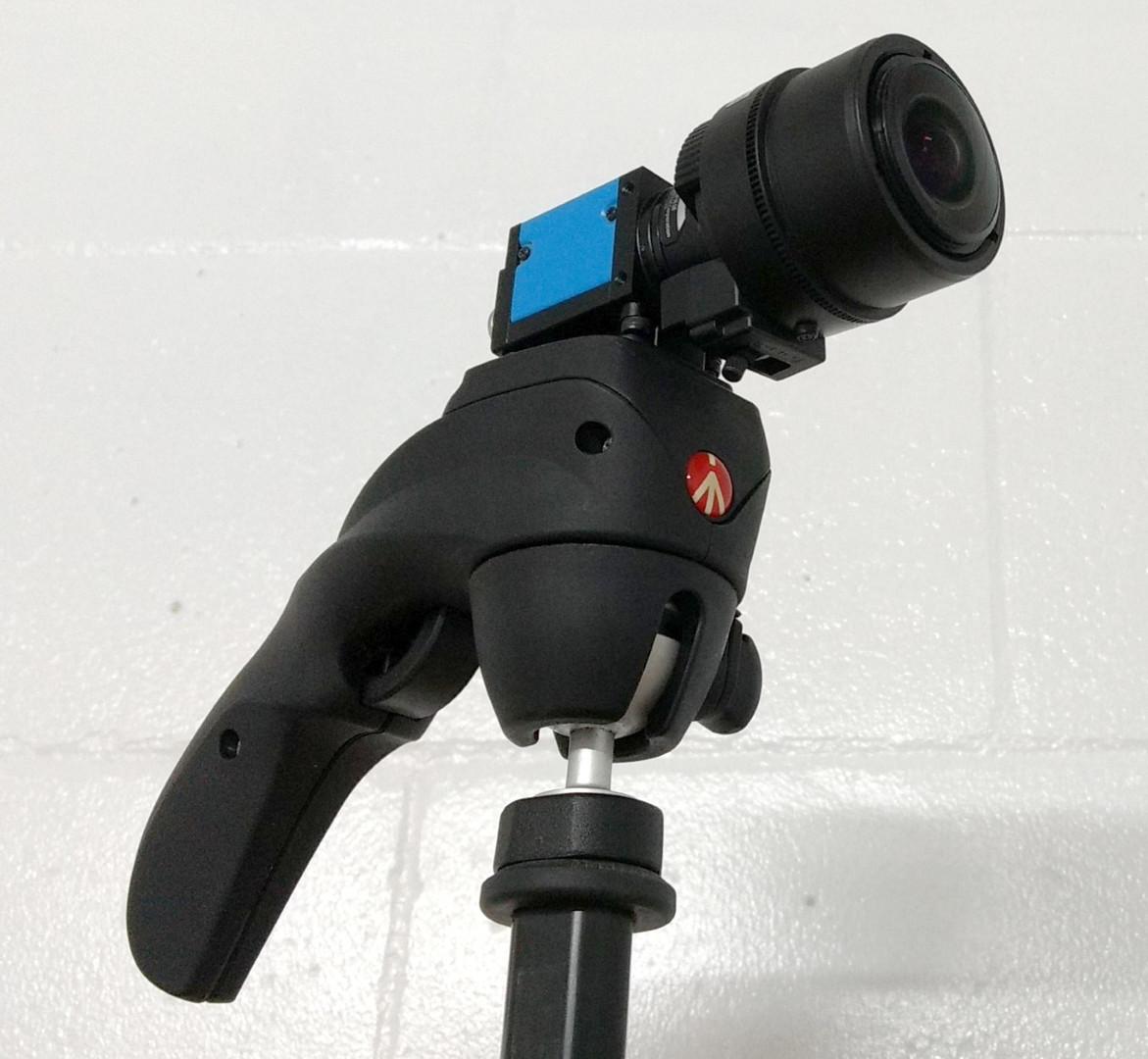 GigE camera on tripod