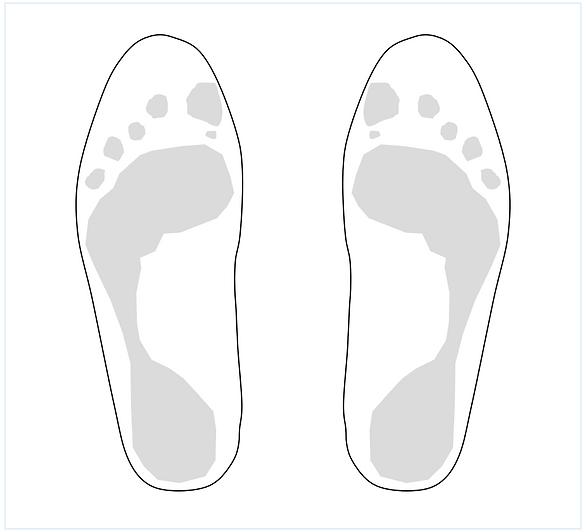 foot sketch template