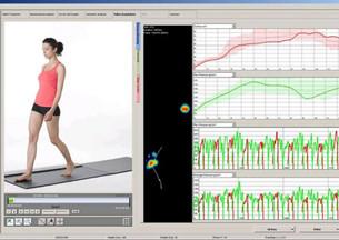 Foot pressure platform demonstration