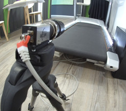 GigE camera in podiatry clinic with pressure treadmill