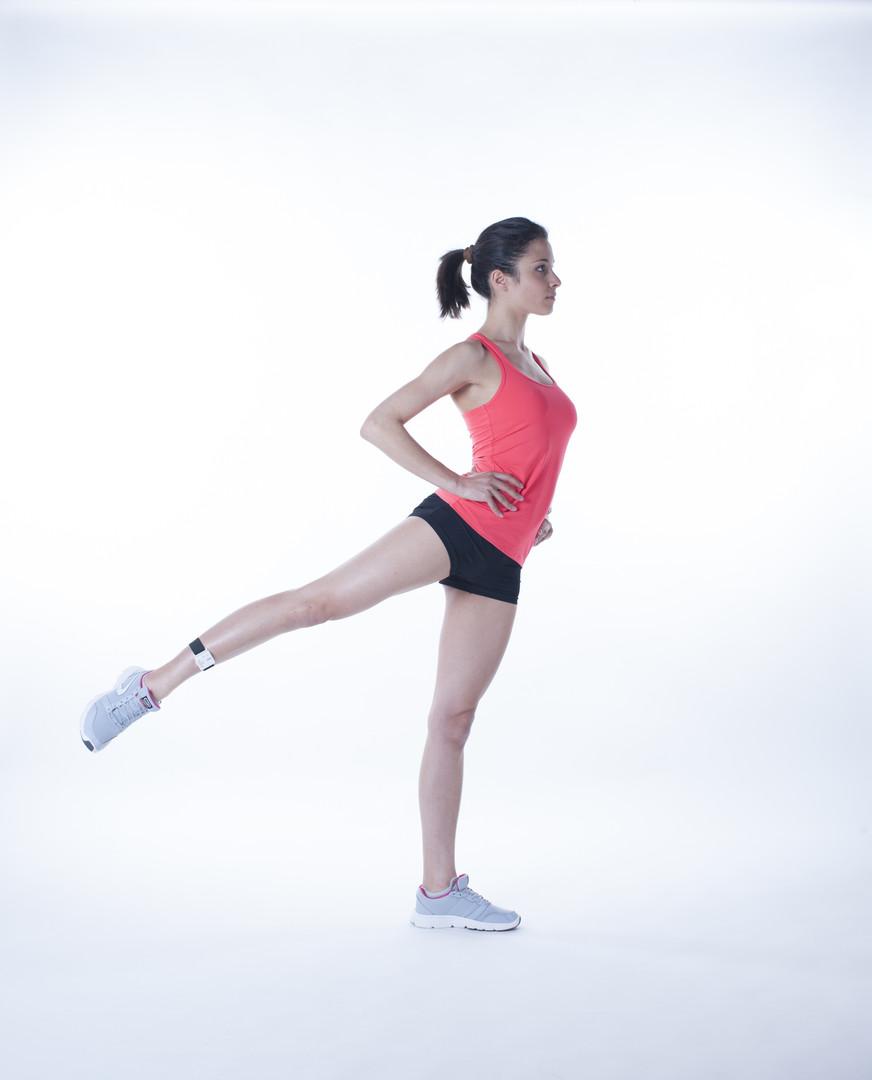 Moover range of motion sensor leg flexibility