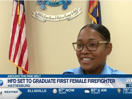 Hattiesburg Fire Department's first female firefighter