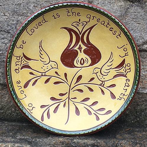 Love Birds Plate - SG788