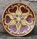 Pennsylvania Redware plate handmade by Denise Wilz