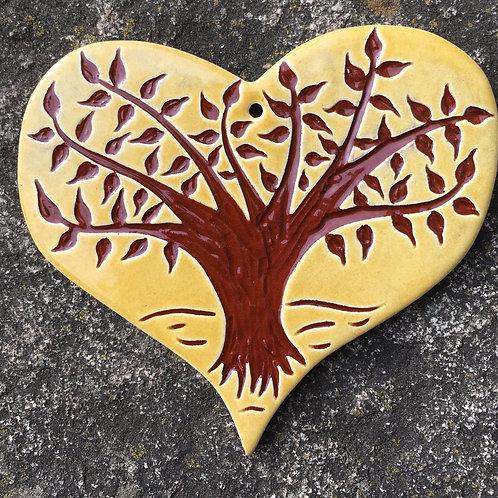 Tree of Life Heart Ornament