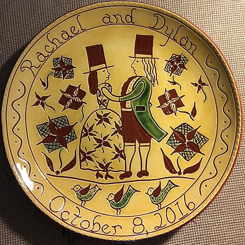 Wedding Couple - Pennsylvania German Redware