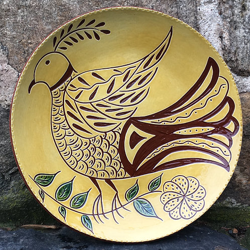 Folk Bird - Pennsylvania German Redware Sgraffito - SG576
