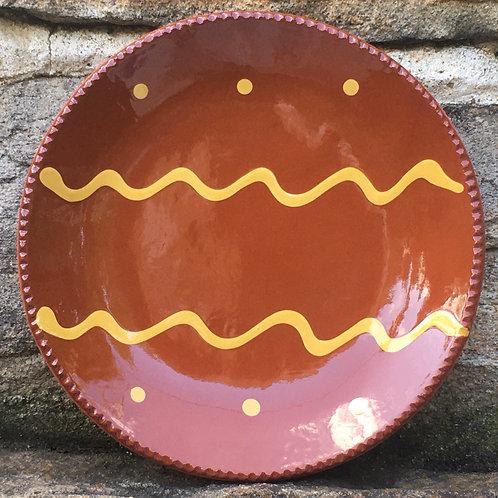 Pennsylvania Redware - Slipware Plate - SP256