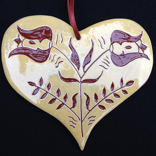 Heart Ornament - Two Tulips