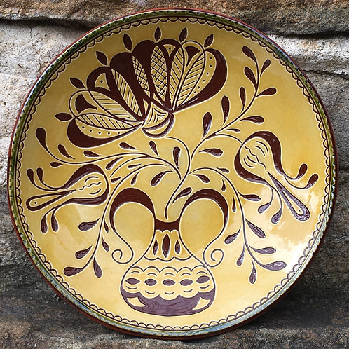 Flowers Redware Plate - SG786
