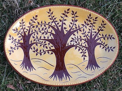 3 Trees Oval Platter - SG812