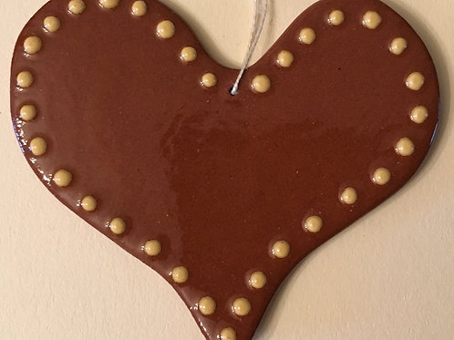Heart with Dots Feather Tree Ornament