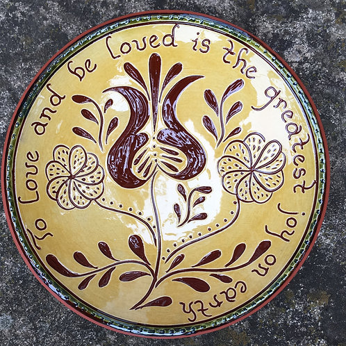 To Love 7 inch Redware Plate - SG762