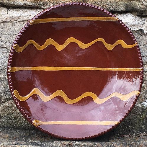 Slipware Plate with Dark Glaze - SP199