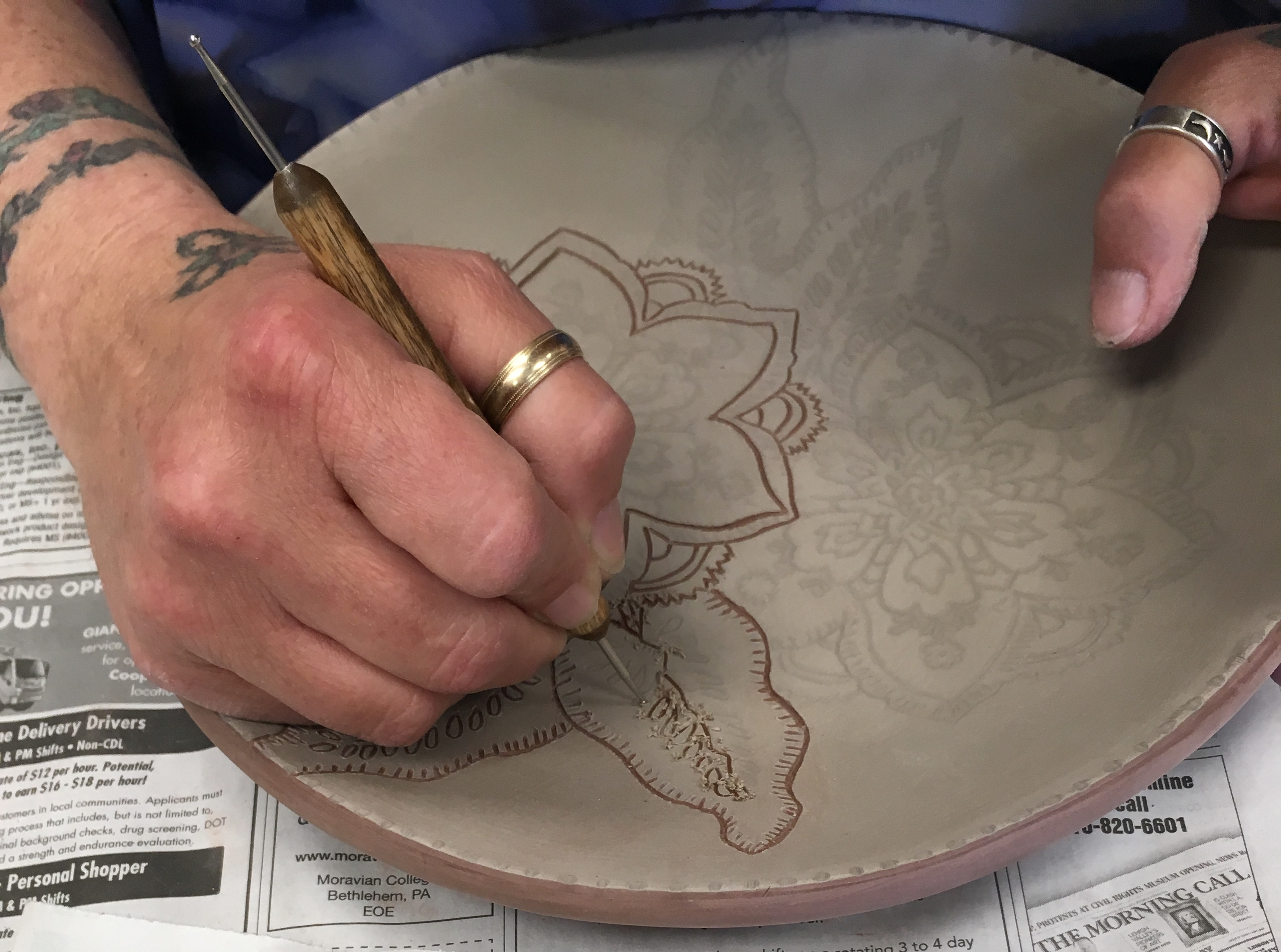 Learn the art of Sgraffito on clay