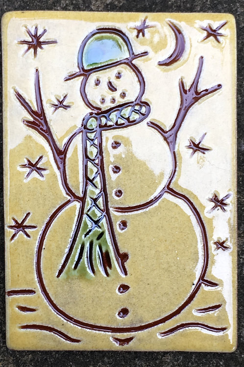 Snowman Pin or Necklace (PIN34)