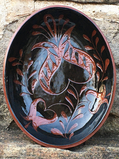 3 Tulips Bowl in Black - SG805