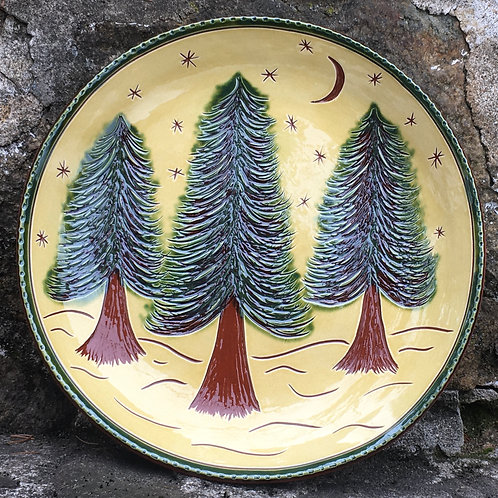 Three Pine Trees 10 inch Plate - SG944