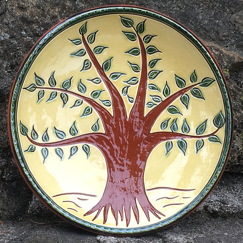 A Tree with Green Leaves - 7 Inch Plate - SG938