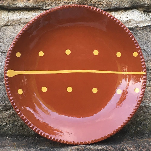 Folk Art Pottery - Slipware Plate - SP257