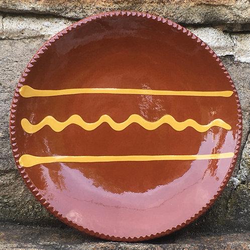 Redware Plate - Slipware - SP271