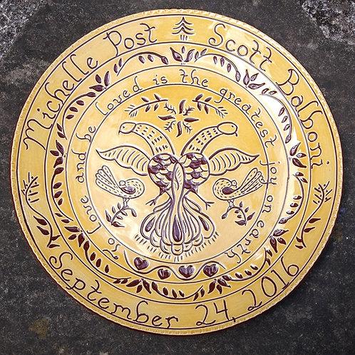 Custom Double-Headed Fancy Dove Plate
