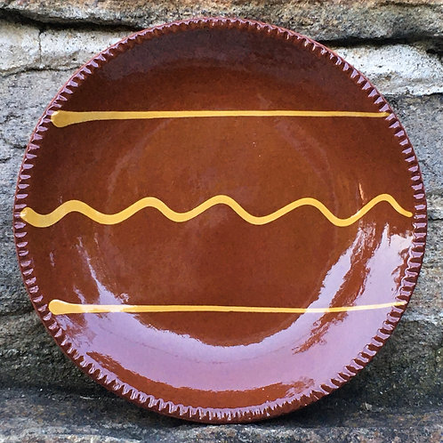 Pennsylvania German Redware Plate - Slipware - SP291