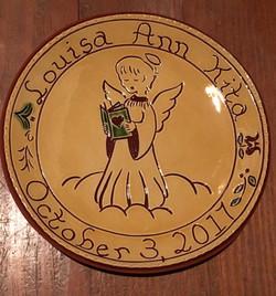 Custom Redware Baby plate