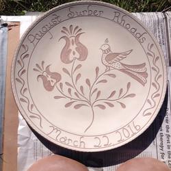 Greenware Plate