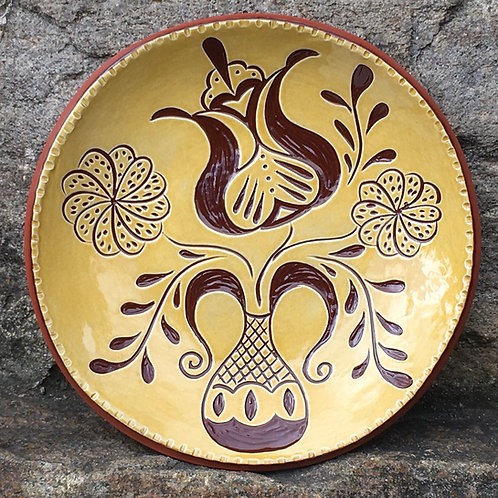 Fun Flowers Plate - Find the Hearts! - Redware - SG779