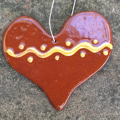 Heart with Squiggles Feather Tree Ornament
