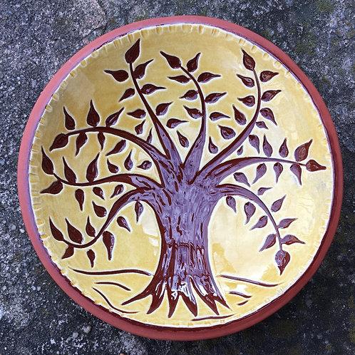 Tree of Life Bowl - Pennsylvania German Redware - Sgraffito - SG630
