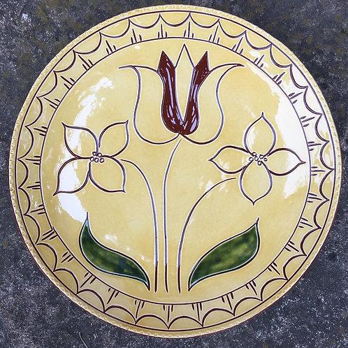 Three Flowers Plate - SG704