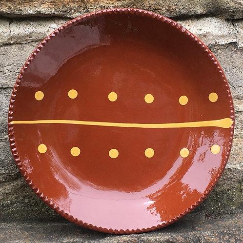 Slipware Plate - Pennsylvania Redware -  SP332