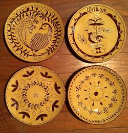 Redware workshop - student plates