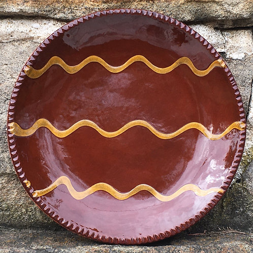 Slipware Plate with Dark Glaze - SP200