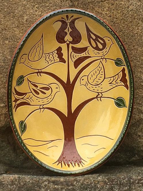 Bird Tree Oval Bowl - SG897
