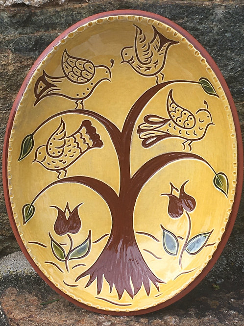 Bird Tree Small Oval Bowl -  SG852
