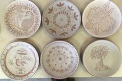 2019 Sgraffito workshop plates
