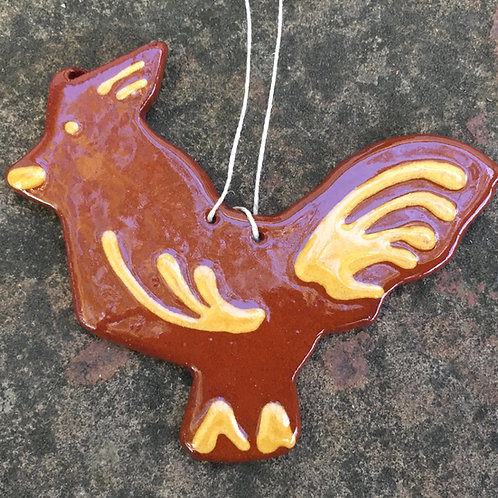 Rooster Feather Tree Ornament