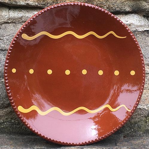 Folk Art Pottery - Slipware Plate - SP346