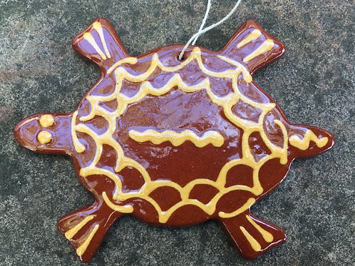 Turtle Feather Tree Ornament