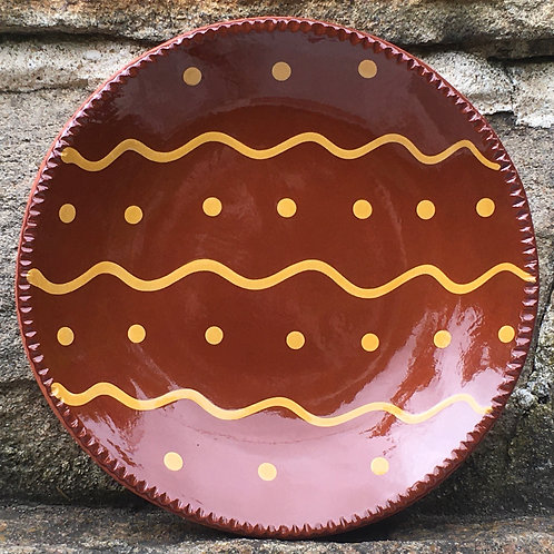 Slipware with Squiggles and Dots - SP285