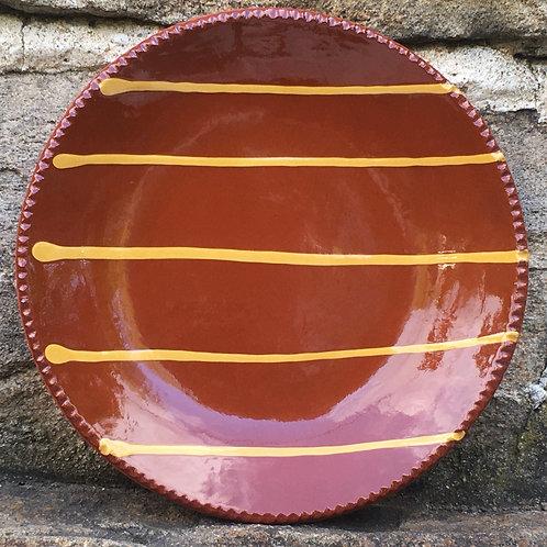 Pennsylvania Redware - Slipware Plate - SP204