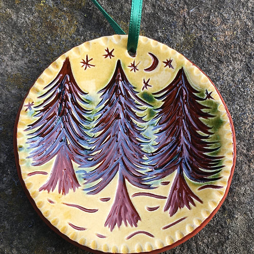 3 Trees Ornament